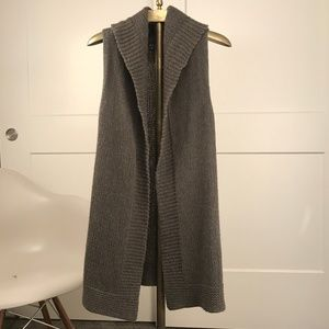 THEORY Sublime Alpaca Hooded Long Sweater Vest